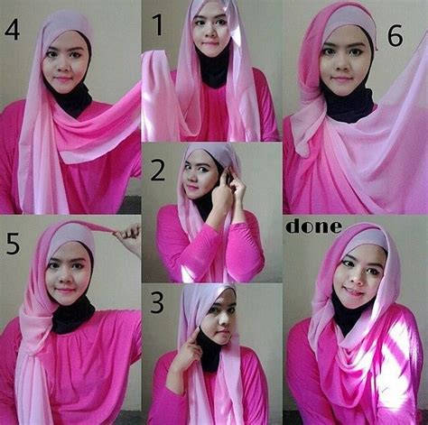 tutorial berhijab pashmina sifon tutorial hijab pashmina sifon simple dan elegan model