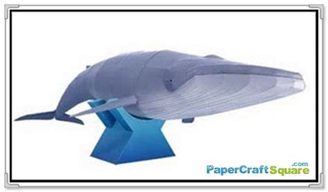 Creative Park Papercraft - animal papercraft blue whale