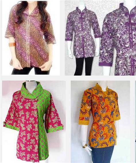 model batik kantor orang gemuk model baju batik kerja untuk wanita gemuk ibu hamil guru