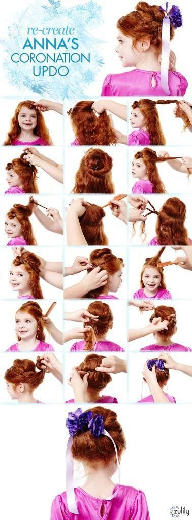 Hairstyles For Frozen by Frozen Hairstyles How To S Coronation Updo Elsa S