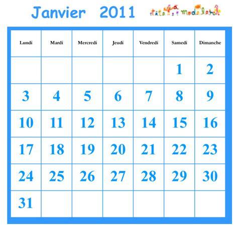 Calendrier Janvier 2011 Cocher Les Jours Du Calendrier Janvier 2010 T 234 Te 224 Modeler