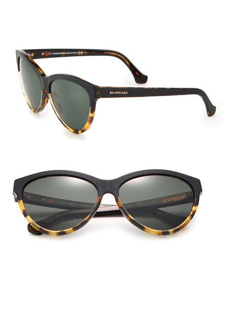 balenciaga 59mm cat s eye sunglasses in black lyst