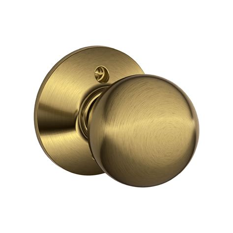 Dummy Door Handle by Shop Schlage F Orbit Antique Brass Dummy Door Knob At