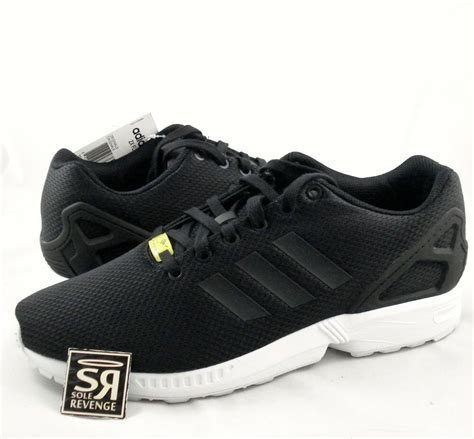 adidas originals mens zx flux shoes black white zxz flyknit  yellow ebay