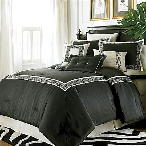 black and ivory bedding 10p king chris madden florentine black ivory comforter ebay