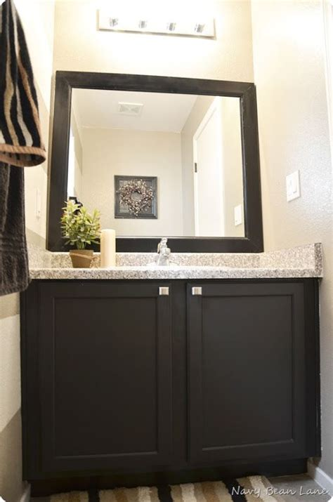 how to paint a bathroom vanity black 1000 ideas about painting bathroom vanities on pinterest