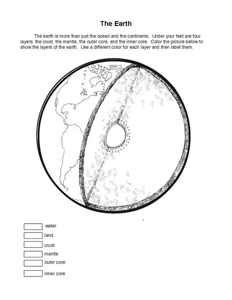 coloring sheet of earth s layers earth layers coloring sheet montessori geography