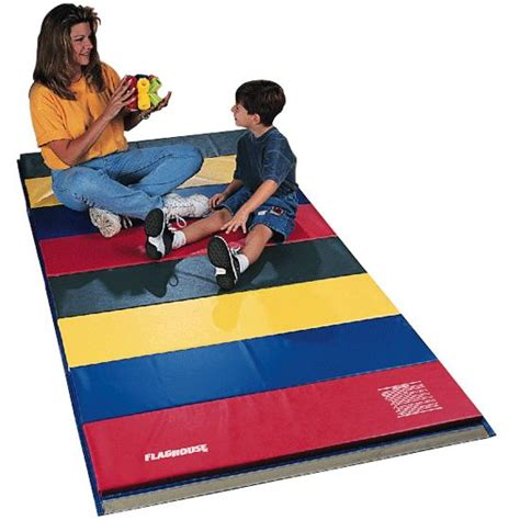 physical education mats flaghouse rainbow mat 2 sided hook loop 4 x 6