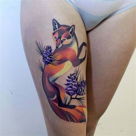 fox tattoo by sasha unisex design of tattoosdesign of