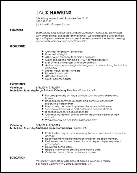 Resume Sample Veterinary by Veterinarian Resume Linkedin 28 Images Veterinary