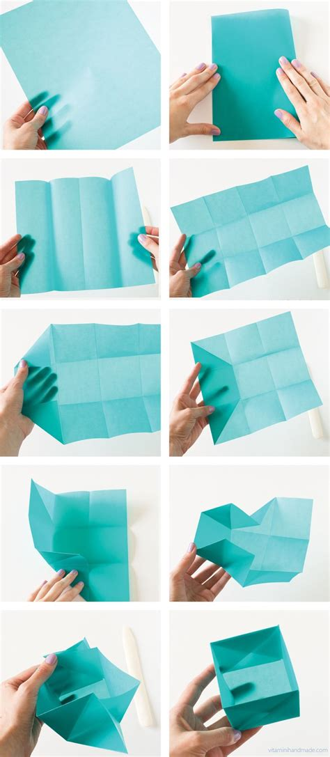Paper Folding Designs Tutorial - origami how to make a paper box easy origami box paper