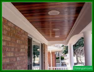 Beadboard Patio Ceiling by Stained Beadboard Porch Ceiling Design Idea Home Landscaping