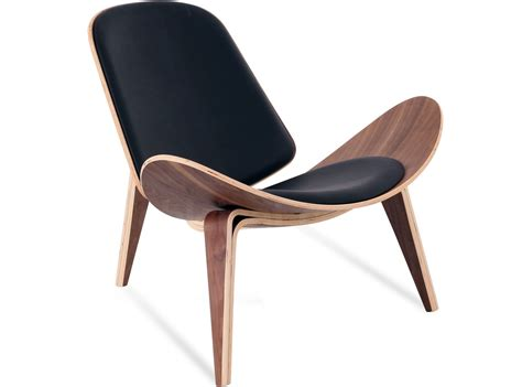Hans Wegner by Replica Shell Chair Leather By Hans Wegner