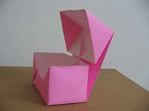 Folded Paper Box With Lid - origami box with lid