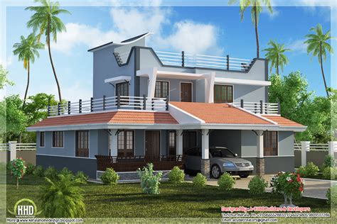 home parapet designs kerala style contemporary style 3 bedroom home plan kerala home