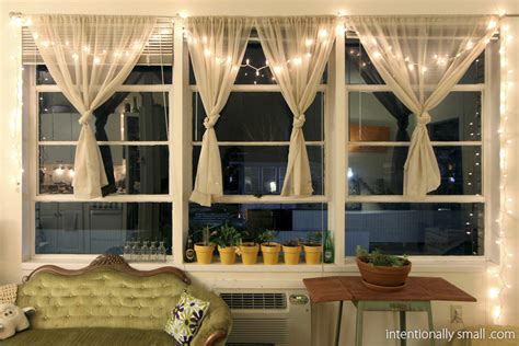 Kitchen String Lights Small Space Solutions Intentionally Small