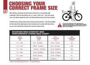 Bike size guide jowetts cycles
