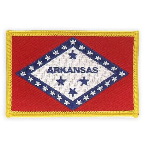 patch arkansas patch arkansas state flag embroidered patches pinmart pinmart
