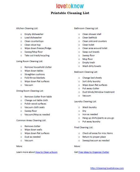 Cleaning Supplies Checklist by Cleaning Supplies List Bing Images