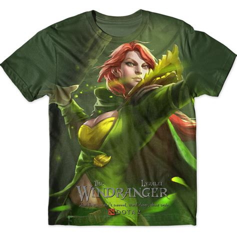 Graphic T Shirt Kaos Dota 2 The Maiden windranger graphic t shirt dota 2 chicken garment