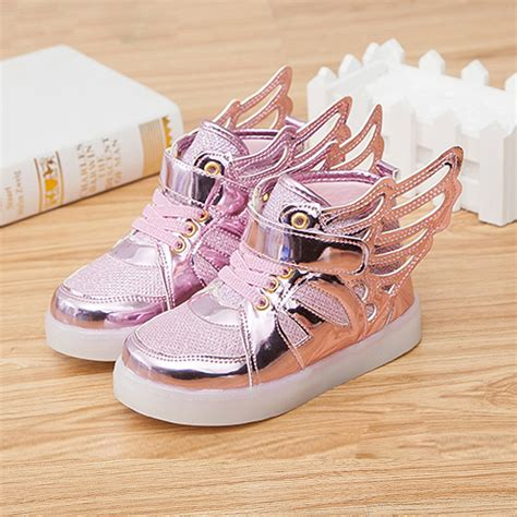 Wings New Led Shoes Silver Kecil led shoes new 2016 shoes fashion sneakers wings