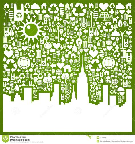 Go Green City Background Stock Vector Image Of Media | go green city background stock vector illustration of