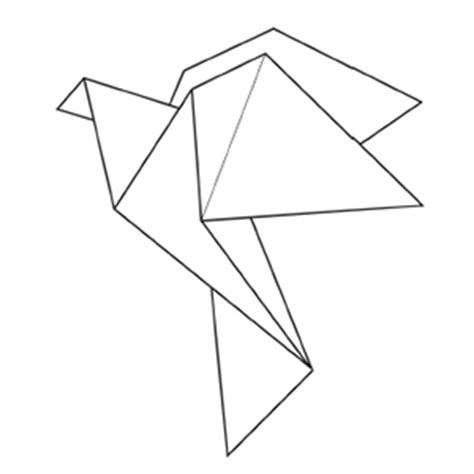 Origami Crane Outline - origami crane colouring pages