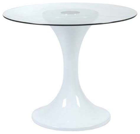 eurostyle johnie 36 inch glass dining table w white