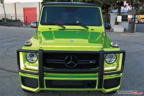 green mercedes a class lime green chrome mercedes g class is