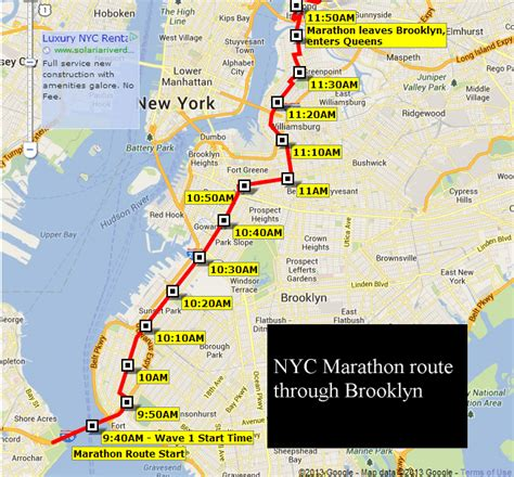 nyc marathon map nyc marathon route times through buzz