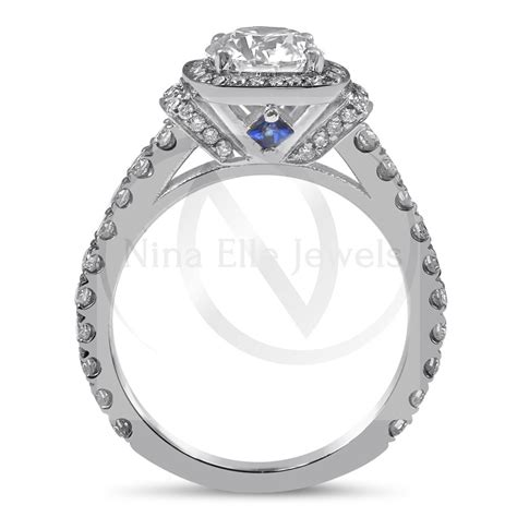 1 00ct engagement ring w sapphire accents r189