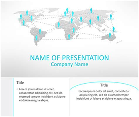 powerpoint themes networking business network powerpoint template templateswise com