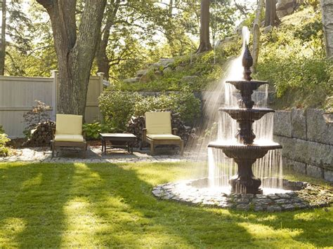 contemporary water fountains landscape with feature new