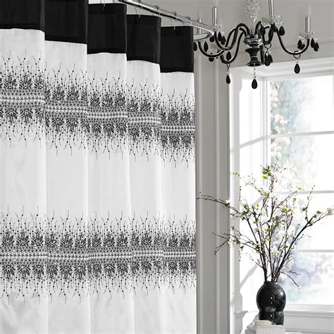 Shower Curtains Black And White Contemporary Bathroom Ideas With Marrimekko Shower Curtains In Uk And Black White Decorative