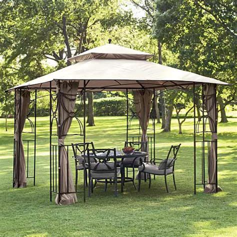 garden canopy gazebo walmart home casual colonial gazebo replacement canopy