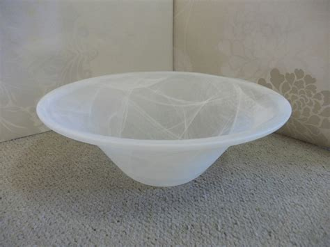 Glass Pendant Light Shades Replacement 40cm White Bowl Replacement Glass Shade For Uplighter L Or Pendant Fitting Ebay