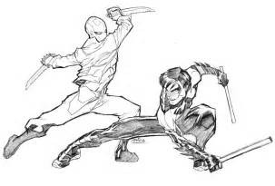 nightwing coloring pages redhood vs nightwing by guinnessyde on deviantart