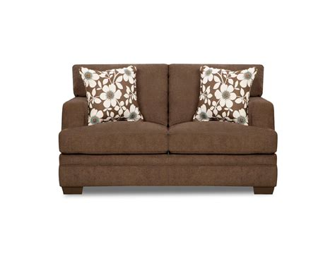 simmons upholstery brown chicklet transitional loveseat