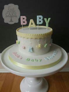 Unisex Baby Shower Cake by Unisex Baby Shower Cake With Made Fondant Stork Baby