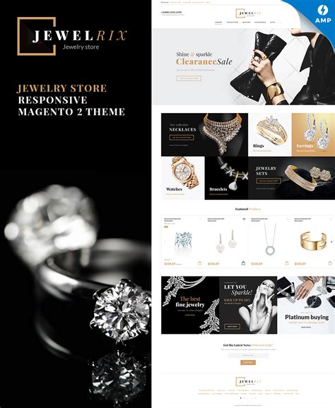 magento themes jewelry store jewelrix magento theme 58903