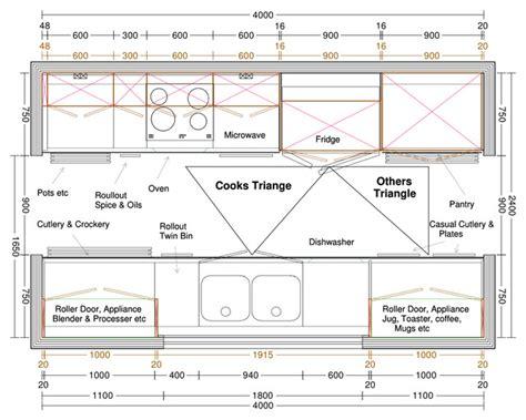 galley kitchen design measurements galley kitchen plan
