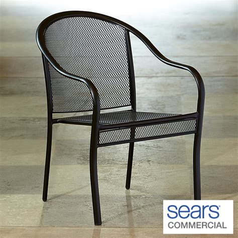 commercial patio chairs grand resort commercial grade barrel back mesh patio