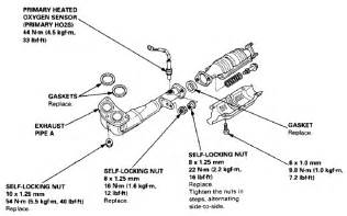 Honda Crv Exhaust System Diagram Honda Crv Exhaust System Auto Parts Diagrams