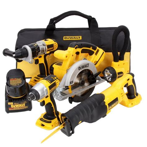 dewalt 18 volt xrp nicd cordless combo kit 5 tool with