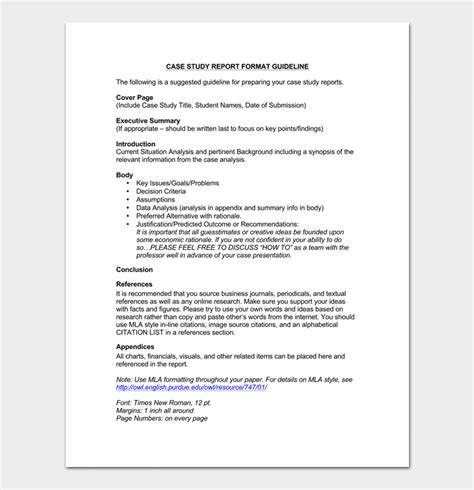 case study template 5 for word pdf format