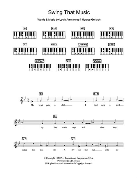swing that music sheet music by louis armstrong keyboard