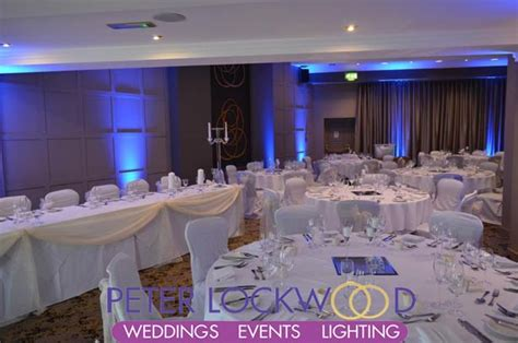 play football bury function room blue wedding lighting in the new look function suite in the hotel manchester lighting