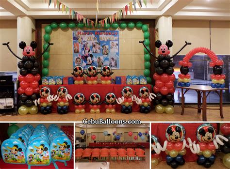 balloon decor mickey mouse theme mickey mouse cebu balloons and supplies
