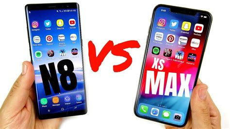galaxy note   iphone xs max speed test youtube