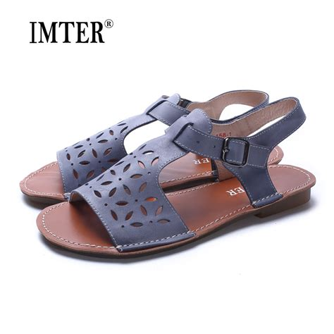 Flat Shoes Murah 3 shoes gladiator sandals genuine leather flat sandals summer shoes